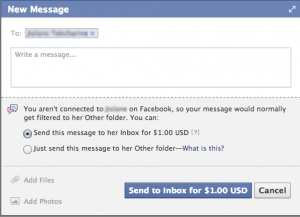Facebook Paid Message
