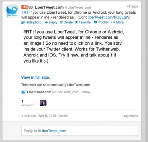 Inside the Twitter Web client.